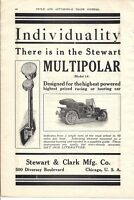 1909 Stewart Speedometer Model 14 Multipolar Ad (later Stewart-Warner)