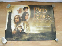 LORD OF THE RINGS THE TWO TOWERS GENUINE CINEMA UK QUAD POSTER ROLLED 2002