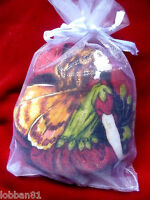 Fairy Pin Cushion Cotton & Red Velvet in organza gift bag & tag  Brand New