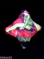 Fairy Wings Pin Cushion Red Green Glitter & Red Velvet in organza gift bag  New