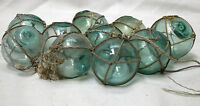 Glass Fishing Floats in Nets SmallJapanese Authentic Vintage