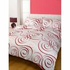 MUSE DESIGN MULTI RED SOFT TOUCH DESIGN DUVET COVER SET DOUBLE OR KING SIZE