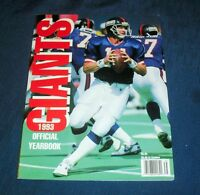 1993 NEW YORK GIANTS NFL FOOTBALL OFFICIAL YEARBOOK GREAT COND!! 141012 D