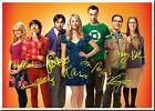 THE BIG BANG THEORY FULL CAST SIGNED AUTOGRAPH PHOTO PRINT POSTER 2
