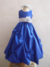 ROYAL BLUE WEDDING FLOWER GIRL PARTY DRESS PROM BRIDESMAID SIZE 2 4 6 8 10 12 14