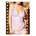 New JEZEBEL Finesse 80609 Sheer Lace Sleep Camisole Cami Top S M L Lilac
