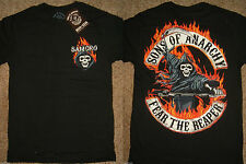 Sons of Anarchy SOA Samcro Fear The Reaper T-Shirt Nwt