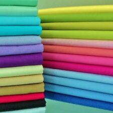100% PURE COTTON PLAIN FABRIC - BY THE METRE - 30+ COLOURS TOP EBAY SELLER