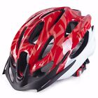 Red New Cycling Bike Sports Safety Bicycle 15 Holes Adult Men Helmet with Visor