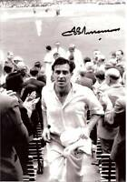 FRED TRUEMAN CRICKET LEGEND in person signed 10x7
