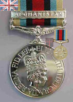 Official  Afghanistan FULL SIZE Medal , OSM , with Clasp Bar and Ribbon -Herrick