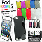 S-LINE WAVE GRIP SERIES SILICONE GEL CASE COVER FITS APPLE IPOD TOUCH 5G 5TH GEN