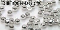 200 x 1.5mm Silver Plated Round Crimp Beads Beading Findings Jewellery R65