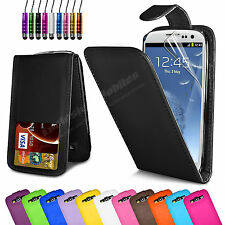 FLIP WALLET LEATHER CASE COVER FOR SAMSUNG GALAXY S3 I9300 FREE SCREEN PROTECTOR