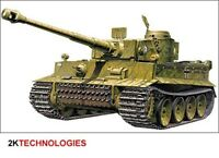 Academy 13264 -Tiger-I (Early Production Version) Tank Kit 1/35 Scale - T48 Post