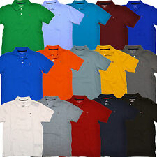 Tommy Hilfiger Kids Polo Shirt Big Boys Solid Mesh Collared Size 4-18 Childrens