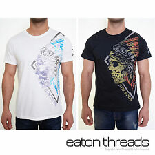 NEW Mens BNWT Ringspun Apache Designer T Shirt Top Graphic Print Crew Neck Tee