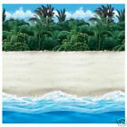 Tropical Beach Scene Setter Room Roll - 40ft - Party Decoration