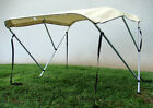 Beige 3 Bow Bimini Boat Cover 6' 600D UV Waterproof Top Boat Cover Storage Boot