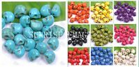200PCS 10 COLOR 12*10mm Howlite Turquoise Carved Skull Spacer Beads Wholesale
