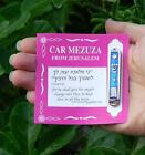 Car Mezuzah Mezuza Case w/ Torah Decalogue Protection Charm, Jewish Judaica Gift