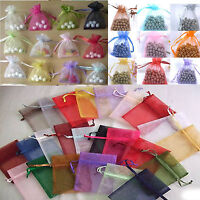 New 100pcs Jewelry Pouch Organza Wedding Favor Xmas Gift Bags 9*12cm