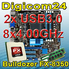 Bundle AMD Bulldozer FX-8350 8x4,00GHz+16GB DDR3+USB3.0/ ASUS Mainboard