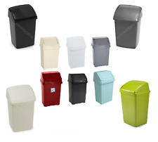 Swing Bin Plastic 8L,10L,15L,25L,30L,50L Liter Kitchen Waste Rubbish Dustbin New
