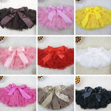 Girls Kids Petticoat Solid Color Pettiskirt Bow-knot Skirt Tutu Dress Dancewear