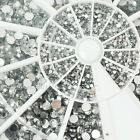 1,200pcs Round Clear Nail Art Rhinestones 2mm with Free Glue Bling Decoration 8D