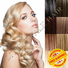 New Easy Micro Loop Ring Remy Human Hair Extensions Full Head Black Blonde Brown