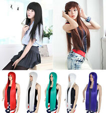 New Fashion Long Sexy Straight Women's Girl Full Hair Wigs Cosplay Party Hairnet