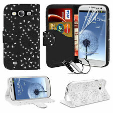 LEATHER FLIP WALLET CASE COVER FOR SAMSUNG GALAXY S3 i9300 FREE SCREEN PROTECTOR