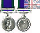 Official Miniature General Service Medal - Northern Ireland Clasp + Ribbon GSM