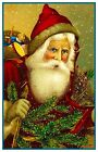 Victorian Father Christmas Santa Claus #23 Counted Cross Stitch Chart