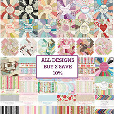 SCRAPBOOKING PAPER CARD PACK COLLECTIONS Dovecraft/First Edition/Grace Taylor