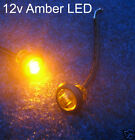 Button 12v Amber LED Marker light/lamp Bike/4x4/A Bar