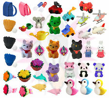 TY IWAKO JAPANESE NOVELTY COLLECTABLE ANIMAL RUBBER ERASER SETS PARTY BAG GIFT 1