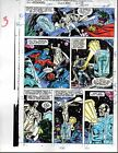 Avengers 330 Marvel Comics color guide art page 3: Thor/She-Hulk/Captain America