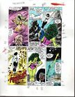 1988 Buscema Avengers 291 color guide comic art page 6: She-Hulk/Captain Marvel