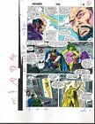 Buscema 1988 Avengers color guide art page: Black Knight/She-Hulk/Captain Marvel