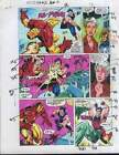 1990's Avengers Iron Man v Wonder Man Marvel color guide art page 2:Spider-Woman