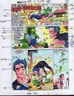 1990's Captain Marvel vs Wonder Man Marvel Comics color guide comic art 7 page 3