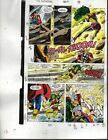 1990 Avengers Marvel comic book colorist's color guide art page 13:Thor/She-Hulk