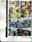 1990 Iron Man/Thor/She-Hulk Avengers Marvel Comics original color guide art page