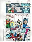 Avengers 318 Marvel Comics color guide art page 22:Thor/Iron Man/Captain America