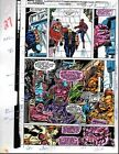 1991 Avengers 330 page 27 original Marvel color guide art: Spider-man/Falcon