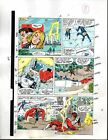 Marvel Avengers 301 color guide art page 8: Captain America/Thor/Fantastic Four