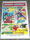 1985 Marvel Comics Avengers poster:Captain America/Iron Man/Vision/Scarlet Witch