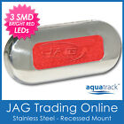 12V STAINLESS STEEL 3-SMD RED LED COURTESY LIGHT SS - RV/Boat/Cabin/Stair/Step
